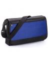 Blauwe schoudertas met voorvakje