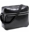 Zwart schoudertas met twee vakken