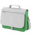 Tas voor naar je werk grijs/groen